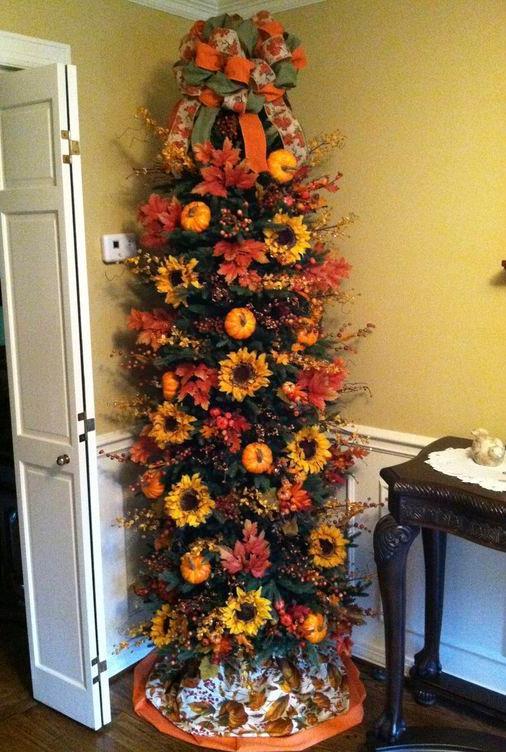 δέντρο με πορτοκαλί λουλούδια