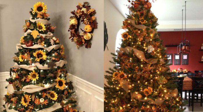 Χριστουγεννιάτικα δέντρα με ηλιοτρόπια