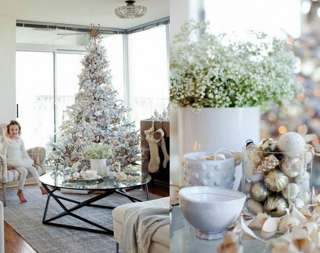 χριστουγεννιάτικοι συνδυασμοί Ασημί και χρώμα του πάγου