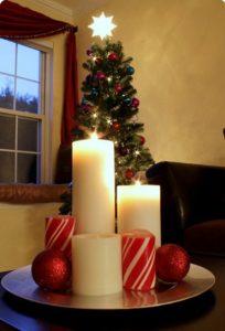 διακόσμηση σπιτιού Χριστούγεννα κεριά
