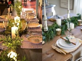Διακόσμηση με χριστουγεννιάτικο τραπέζι