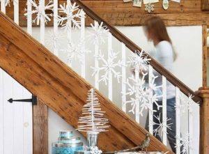 διακοσμητικές χιονονυφάδες σκάλα