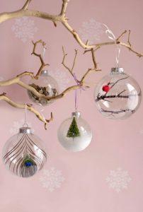 diy χριστουγεννιάτικες μπάλες δέντρου