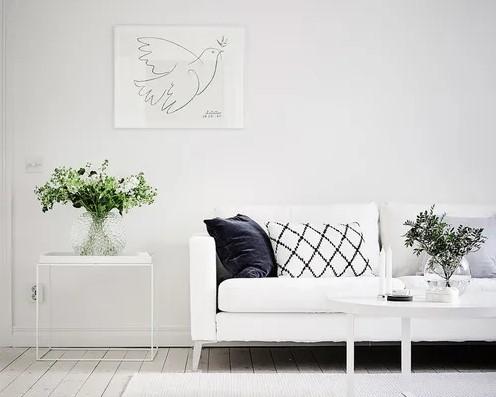 δωμάτιο άσπρο χρώμα