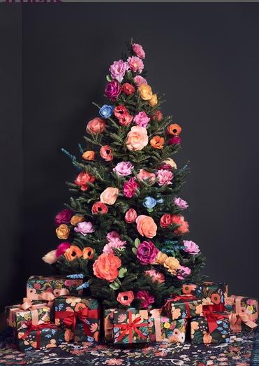 χριστουγεννιάτικα trends: φλοράλ δέντρο