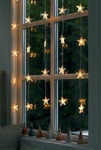 λαμπάκια αστέρια διακόσμηση παραθύρων