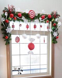 γιρλάντα παράθυρο Χριστούγεννα