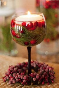 ιδέες διακόσμησης κεριά Χριστούγεννα