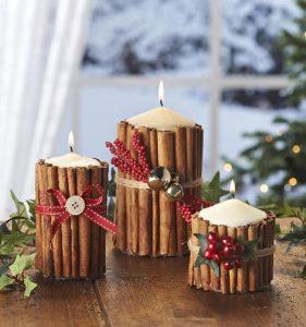 κεριά κανέλα Χριστούγεννα