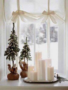 κεριά παράθυρο Χριστούγενα