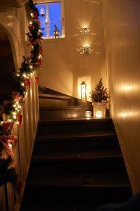 κεριά σκάλα διακόσμηση
