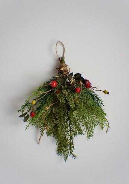 κλαδί από γκι χριστουγεννιάτικα φυτά