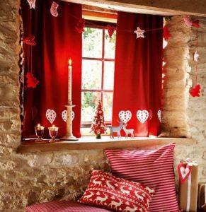 χριστουγεννιάτικη διακόσμηση παράθυρα