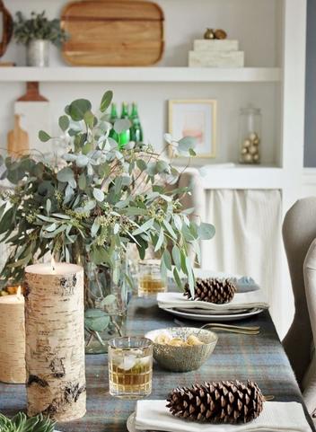 Κουκουνάρια για χριστουγεννιάτικο τραπέζι