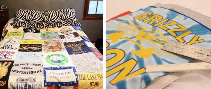Κουβέρτα από μπλουζάκια