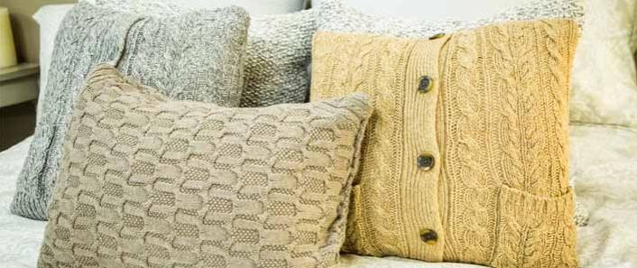Μαξιλάρια από παλιά πουλόβερ