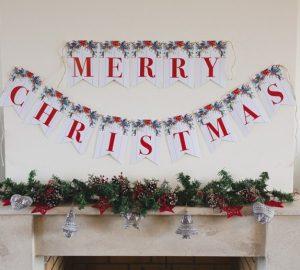 Merry Christmas πανό