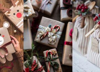 περιτύλιγμα Χριστουγεννιατικα δώρα