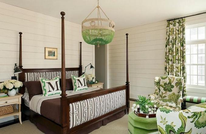 Πράσινος πολυέλαιος ξύλινος