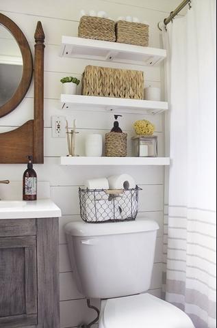 Ράφια πάνω από τουαλέτα