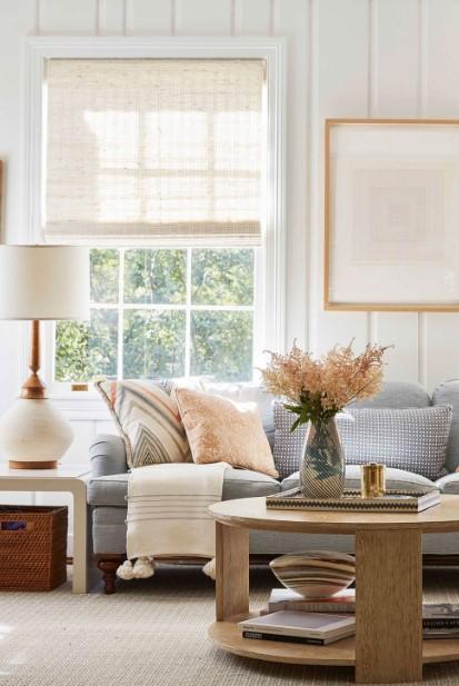 σαλόνι ελαφριά κουρτίνα φωτεινό σπίτι