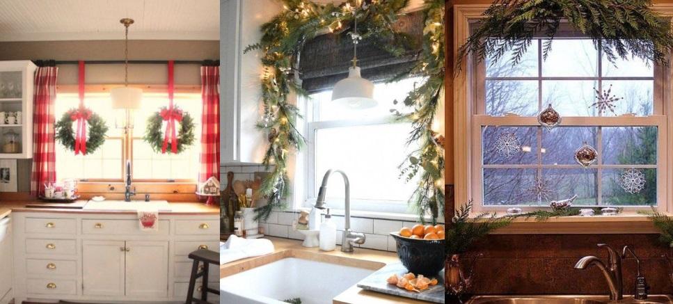 ιδέες για τον χριστουγεννιάτικο στολισμό των παραθύρων της κουζίνας σου