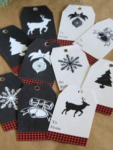 Χριστουγεννιάτικες ετικέτες για δώρα