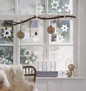 χριστουγεννιάτικα διακοσμητικά παράθυρο