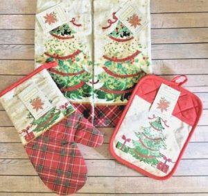 χριστουγεννιάτικα γάντια φούρνου