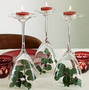 diy χριστουγεννιάτικα κηροπήγια ποτήρια