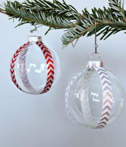 χριστουγεννιάτικες μπάλες με washi tape