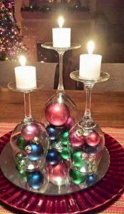 χριστουγεννιάτικες ιδέες διακόσμησης κεριά
