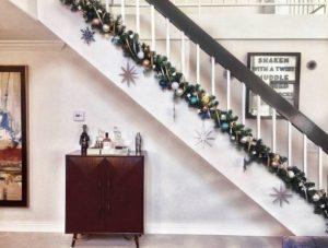 χριστουγεννιάτικη διακόσμηση σαλονιού