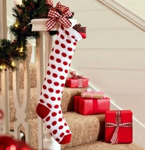 Χριστουγεννιάτικη κάλτσα σκάλες