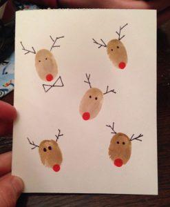 χριστουγεννιάτικη κάρτα ελαφάκια