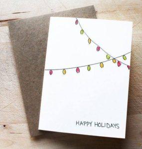 χριστουγεννιάτικη κάρτα γιορτινά λαμπάκια