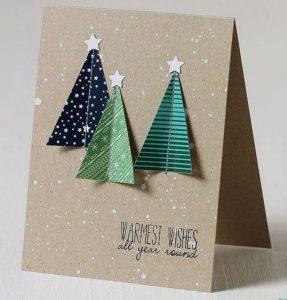 χριστουγεννιάτικη κάρτα με κορδέλες