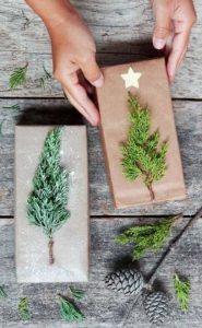 χριστουγεννιάτικη κάρτα με κλαδιά