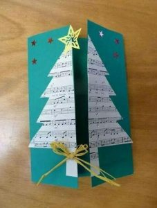 χριστουγεννιάτικη κάρτα με νότες