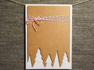 χριστουγεννιάτικη κάρτα περίγραμμα δέντρων