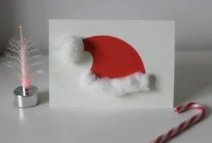 χριστουγεννιάτικη κάρτα σκούφος άγιου Βασίλη