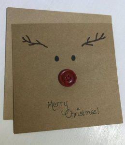 χριστουγεννιάτικη κάρτα με ελαφάκι