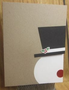 χριστουγεννιάτικη κάρτα με χιονάνθρωπο