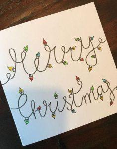 χριστουγεννιάτικη κάρτα χριστουγεννιάτικα φωτάκια