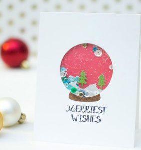 χριστουγεννιάτικη κάρτα χριστουγεννιάτικη μπάλα
