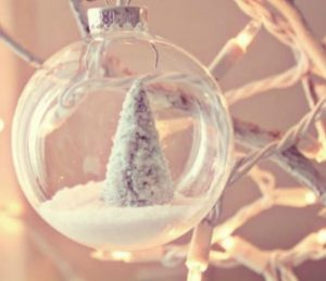 χριστουγεννιάτικη μπάλα χειμερινό τοπίο
