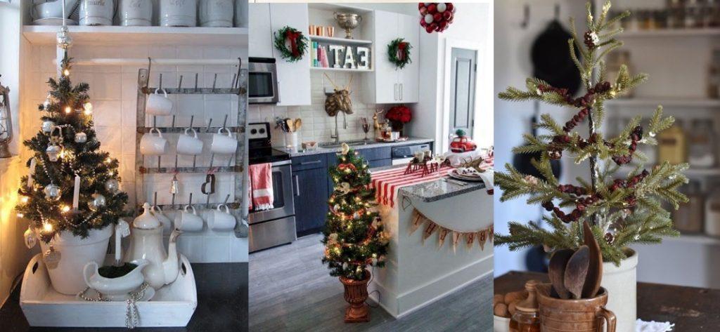 ιδέες για χριστουγεννιάτικο δέντρο στην κουζίνα