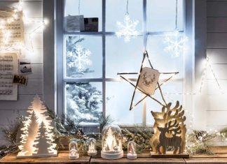 χριστουγεννιάτικος στολισμός παραθύρων