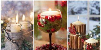 χριστουγεννιάτικος στολισμός σπιτιού με κεριά