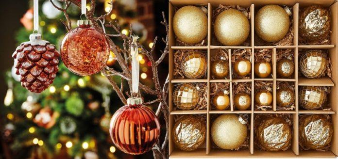 Χριστουγεννιατικες μπάλες και στολιμος Χριστουγεννιατικου δέντρου